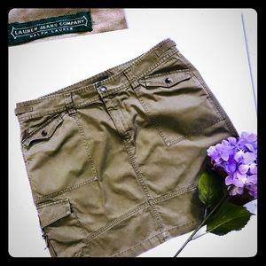 NWOT| Lauren Ralph Lauren | Army Green Cargo Skirt